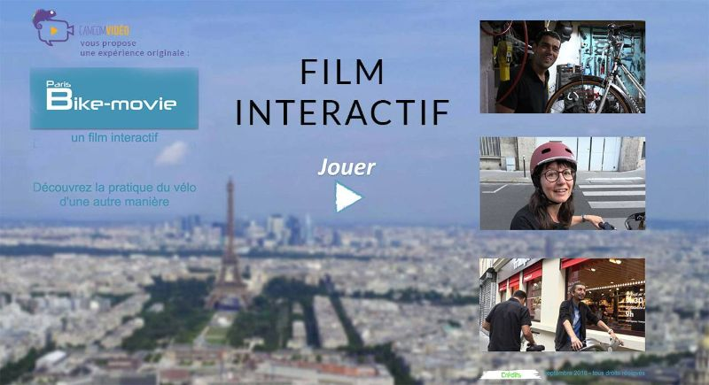 affiche film interactif Paris Bike Movie